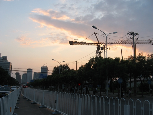A recent pretty sunset - Beijing style