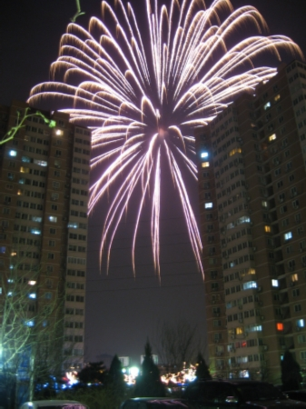 Crazy fireworks being set off outside my complex in 2008. At least 5 of these were set off by private citizens within half an hour.