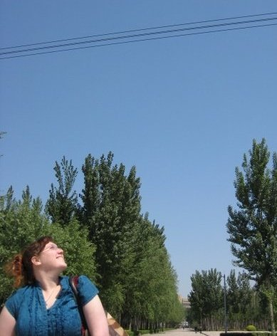 Enjoying a sunny day in Langfang