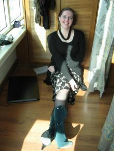 Turquoise boots, and balcony sunshine :)