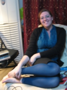 Blue stockings from Manda!