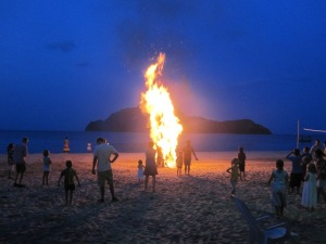 Bonfire on the beach!