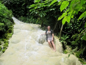 me sitting in Buatong Waterfall