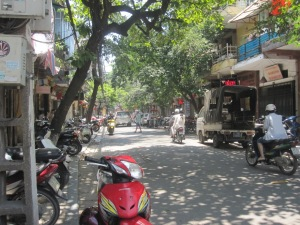 In the Old Quarter of Hanoi