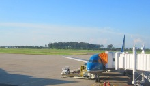 Wattay International Airport at Vientiane, Laos
