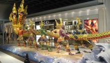 A sculpture in the Bangkok airport
