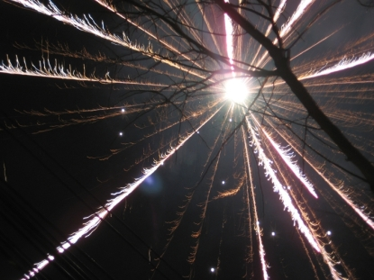 A photo I took of fireworks on the street, CNY 2007