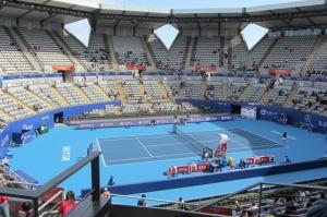 Jankovic and Suarez Navarro playing on the Lotus Court