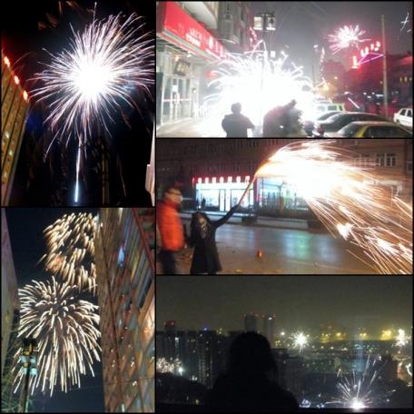 Fireworks on CNY 2009.