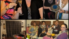 Champagne with my sister; Stargate party; Mum's curtains; hanging out with friends
