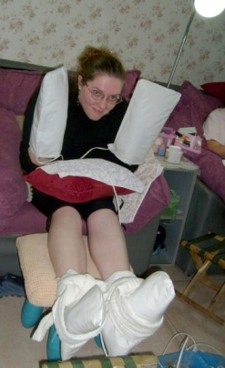 Getting the full treatment at my favourite nail salon back in 2007