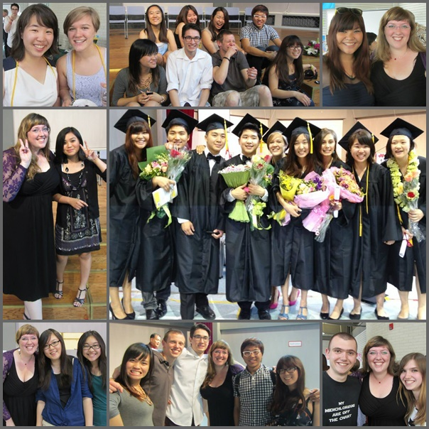 Graduation in Beijing - celebrating graduates and reunions with those visting from other places.