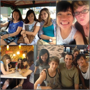 The China team! In tuktuks, and saying goodbye to Mark at the airport.