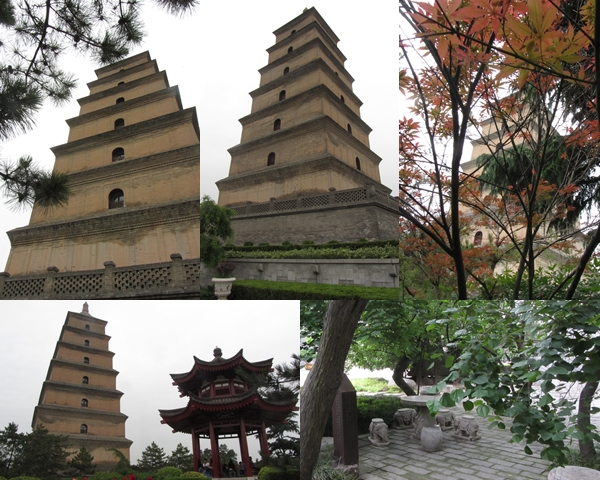 Dayata - the Big Wild Goose Pagoda - in Da Ci En Temple complex.