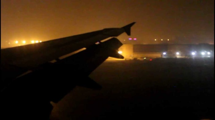 Link to a short video I found of a night landing at Beijing Capital Airport.