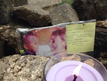 A simple memorial placed on the great wall, at the spot where we had our sunrise service (which she and her family came to) back in April, shortly after her 15th birthday.