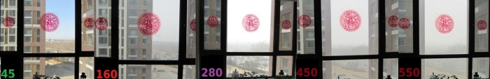 Photos from my living room on days of varying AQI levels.