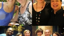 My camera isn't working, but here's some old pics of awesome friends - three of whom I spent time with this week.