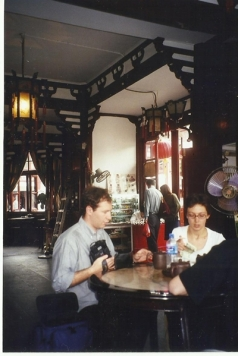 Teahouse outside Yu Gradens in Shanghai, October 1999