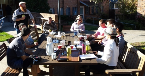 Sharing a piece of China life with new friends during the tea tasting afternoon I hosted.