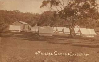 Surveyors' camp in Canberra, circa 1910