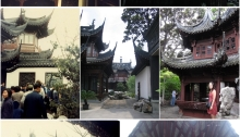 Beautiful pavilions in Yu Gardens. Top row: 1983, 2004; Centre row: 1983, 2004, 2012; Bottom row: 1983, 2012.