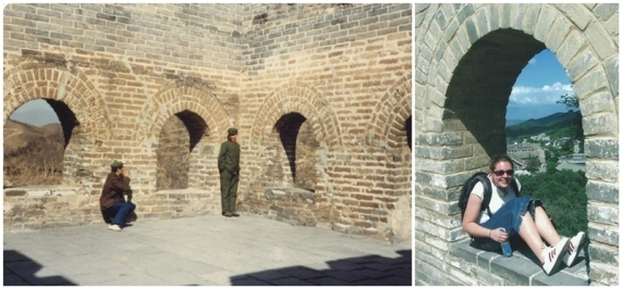 There are lots of forts along the wall; this one is near the entrance of Badaling (March 1983 and August 2004).