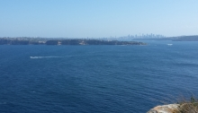 Looking from North Head across South Head abd Sydney Harbour toward the city centre.